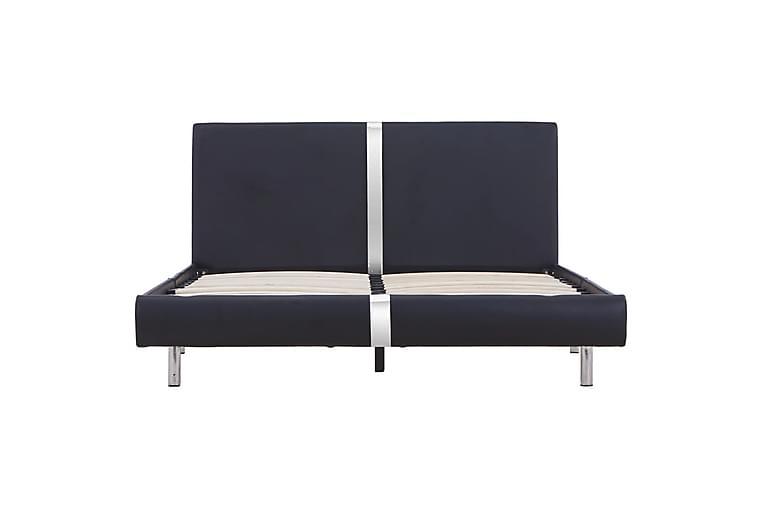 Sängynrunko musta keinonahka 120x190 cm - Musta - Huonekalut - Sängyt - Sänkykehikot & sängynrungot