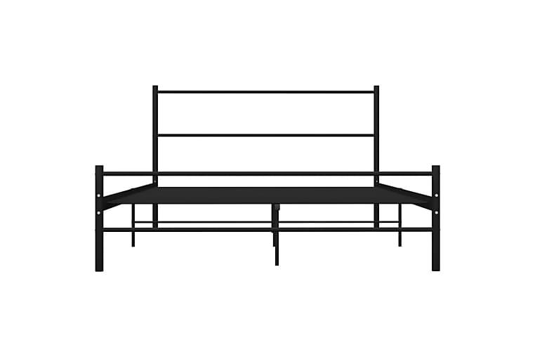 Sängynrunko musta metalli 140x200 cm - Musta - Huonekalut - Sängyt - Sänkykehikot & sängynrungot