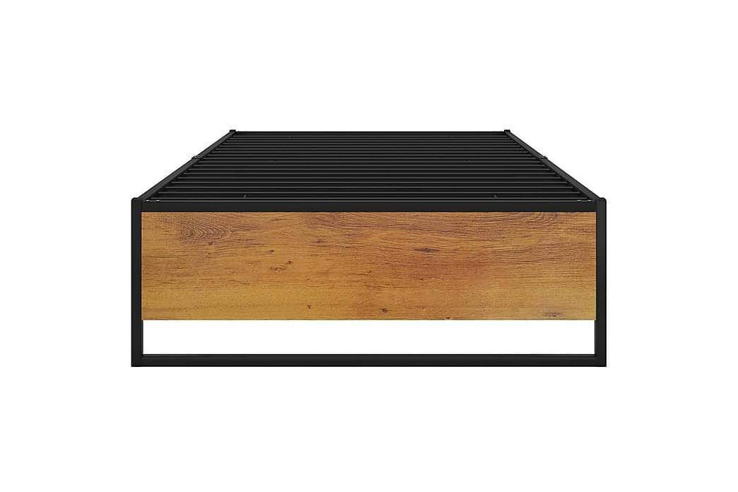 Sängynrunko musta metalli 90x200 cm - Musta - Huonekalut - Sängyt - Sänkykehikot & sängynrungot