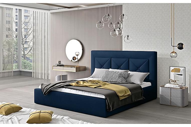 Sängynrunko Nuenen 140x200 cm - Sininen - Huonekalut - Sängyt - Sänkykehikot & sängynrungot