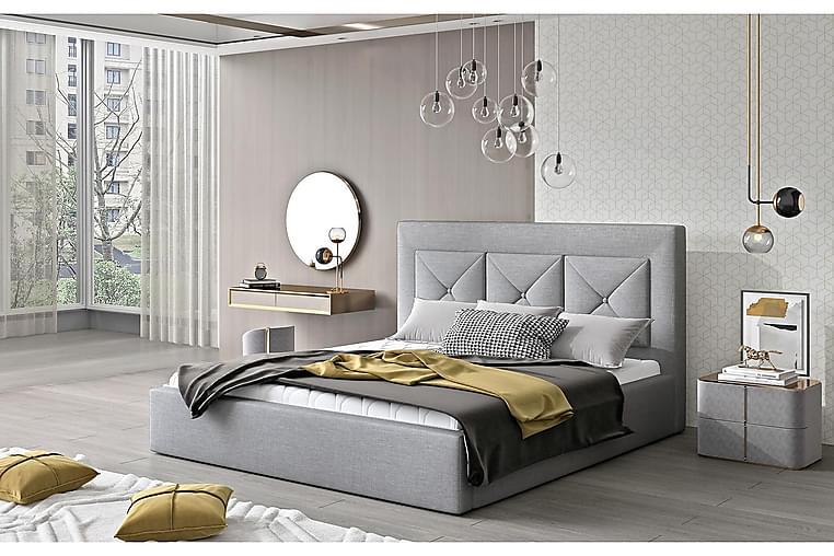Sängynrunko Nuenen 200x200 cm - Harmaa - Huonekalut - Sängyt - Sänkykehikot & sängynrungot