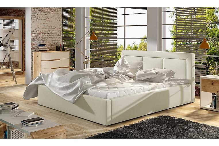 Sängynrunko Rosios 200x200 cm - Beige - Huonekalut - Sängyt - Sänkykehikot & sängynrungot