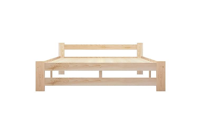 Sängynrunko täysi mänty 120x200 cm - Ruskea - Huonekalut - Sängyt - Sänkykehikot & sängynrungot