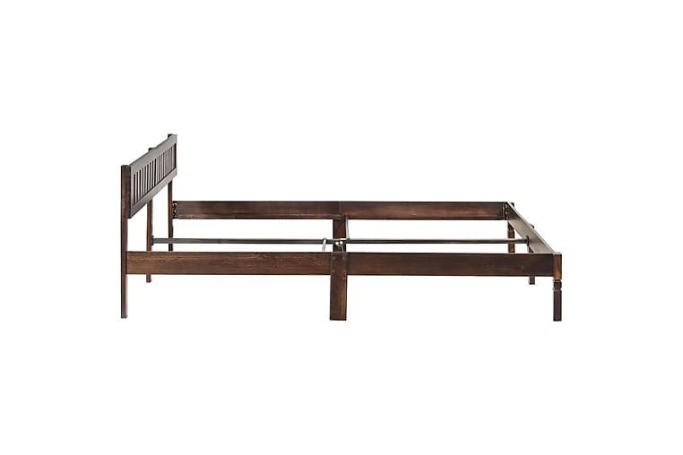 Sängynrunko täysi mangopuu 140 cm - Ruskea - Huonekalut - Sängyt - Sänkykehikot & sängynrungot