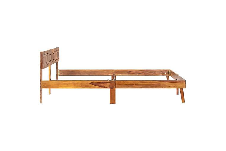 Sängynrunko täysi seesampuu 180x200 cm - Ruskea - Huonekalut - Sängyt - Sänkykehikot & sängynrungot