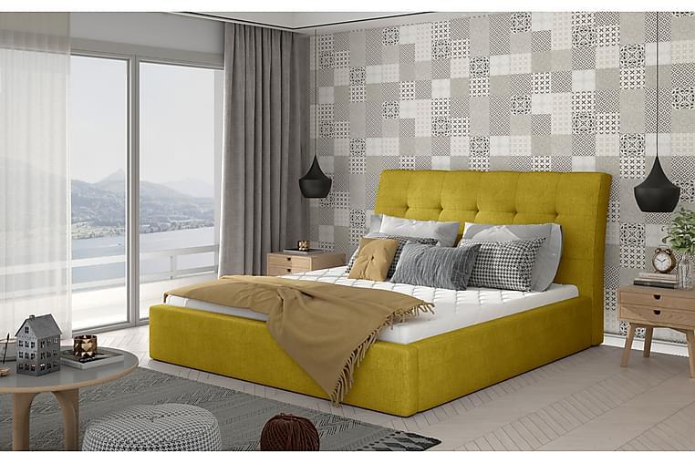 Sängynrunko Tregnago 140x200 cm - Keltainen - Huonekalut - Sängyt - Sänkykehikot & sängynrungot