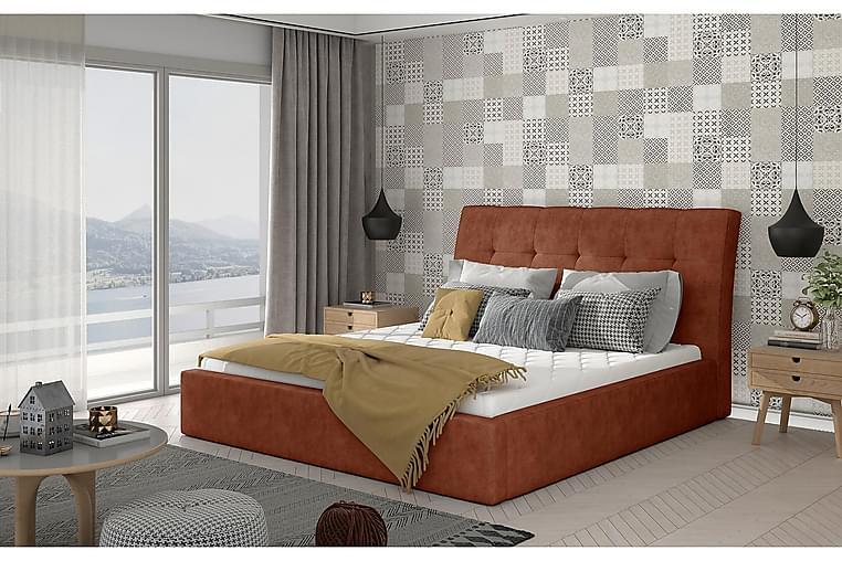 Sängynrunko Tregnago 160x200 cm - Punainen - Huonekalut - Sängyt - Sänkykehikot & sängynrungot