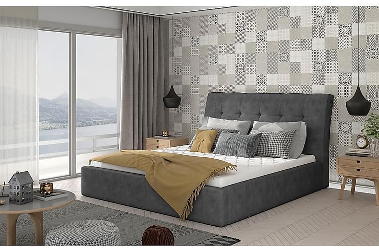 Sängynrunko Tregnago 180x200 cm - Harmaa - Huonekalut - Sängyt - Sänkykehikot & sängynrungot