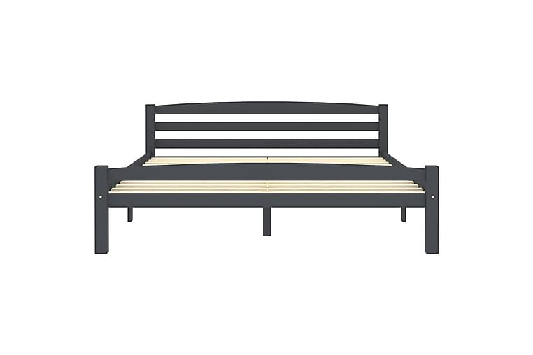 Sängynrunko tummanharmaa täysi mänty 160x200 cm - Huonekalut - Sängyt - Sänkykehikot & sängynrungot