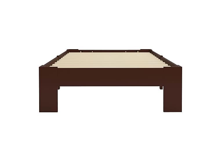 Sängynrunko tummanruskea mänty 100x200 cm - Ruskea - Huonekalut - Sängyt - Sänkykehikot & sängynrungot