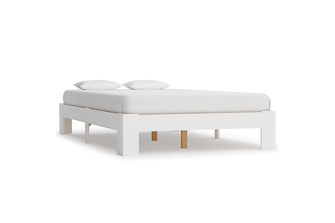 Sängynrunko valkoinen mänty 120x200 cm - Valkoinen - Huonekalut - Sängyt - Sänkykehikot & sängynrungot