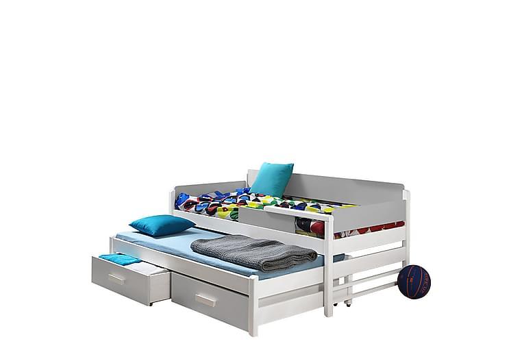 Sänky Bicas 90x200 cm - Harmaa - Huonekalut - Sängyt - Sänkykehikot & sängynrungot