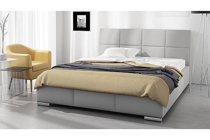 Sänky Labar säilytyksellä 160x200 - Harmaa - Huonekalut - Sängyt - Sänkykehikot & sängynrungot