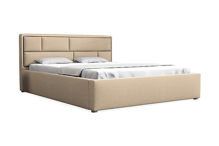 Sänky Ramby 200x200 cm Metallikehys - Beige - Huonekalut - Sängyt - Sänkykehikot & sängynrungot