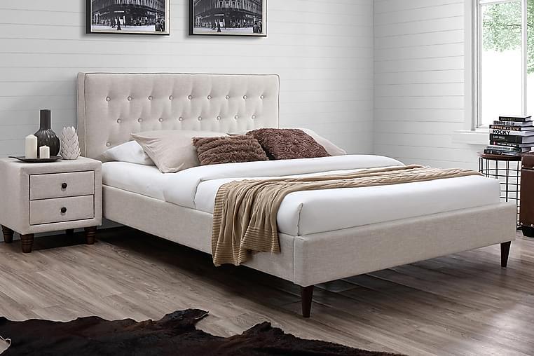 Vuode Emilia 160x200 cm Beige - Huonekalut - Sängyt - Sänkykehikot & sängynrungot