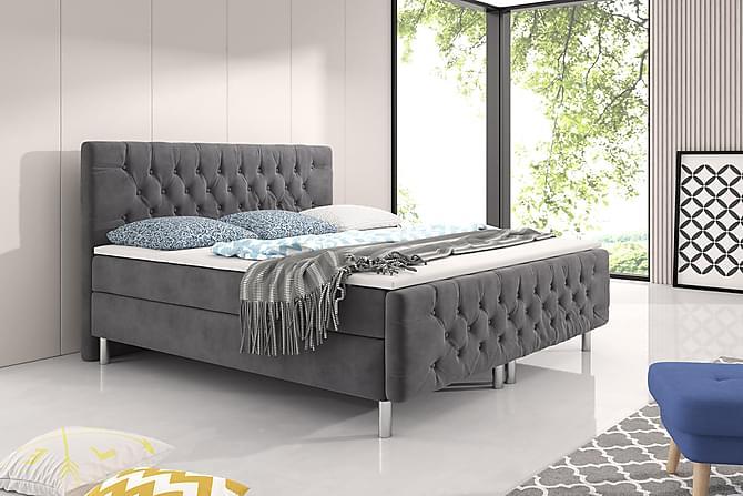 Sänkypaketti Alessio Harmaa - 160x200 - Huonekalut - Sängyt - Sänkypaketti