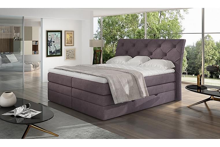 Sänkypaketti Aubenas 140x200 cm - Violetti - Huonekalut - Sängyt - Sänkypaketti