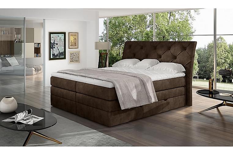 Sänkypaketti Aubenas 160x200 cm - Ruskea - Huonekalut - Sängyt - Sänkypaketti