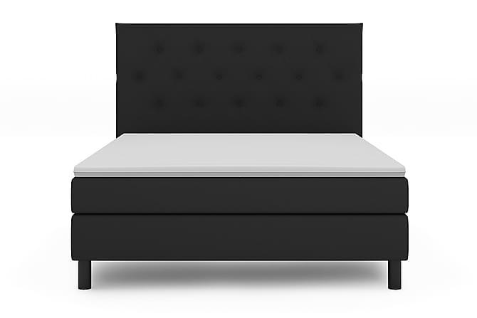 Sänkypaketti Bergen Lyx 160x200 - Musta/Musta - Huonekalut - Sängyt - Sänkypaketti