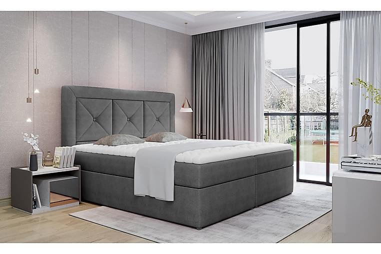 Sänkypaketti Cataloba 160x200 cm - Harmaa - Huonekalut - Sängyt - Sänkypaketti