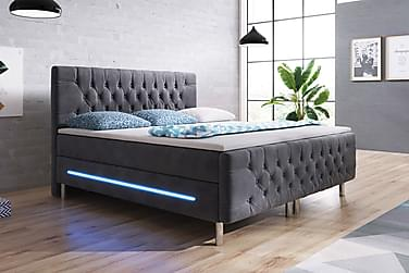 Sänkypaketti Celinda 160x200 LED-valaistus Sametti