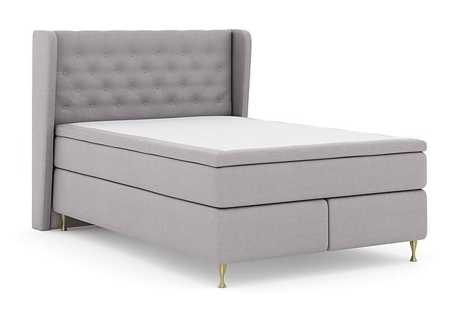 Sänkypaketti Choice No 5 140x200 Kova/Medium Watergel - Vaaleanharmaa/Kulta Jalat - Huonekalut - Sängyt - Sänkypaketti