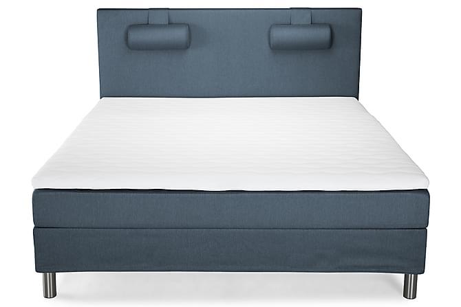 Sänkypaketti Harmony 180x200 Sileä pääty - Sininen - Huonekalut - Sängyt - Sänkypaketti