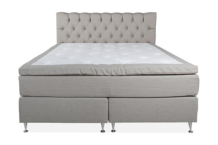 Sänkypaketti Lockarp 160x200 cm - Beige / Medium - Huonekalut - Sängyt - Jenkkisängyt