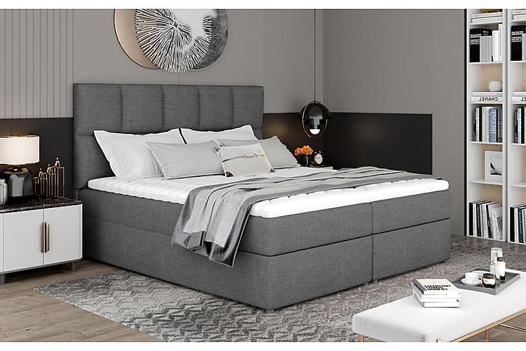 Sänkypaketti Loutraki 140x200 cm - Harmaa - Huonekalut - Sängyt - Sänkypaketti