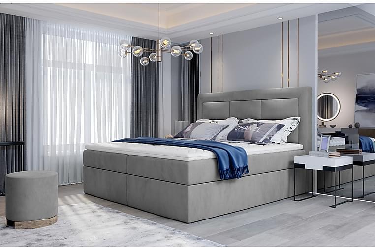 Sänkypaketti Montalon 140x200 cm - Keltainen - Huonekalut - Sängyt - Sänkypaketti