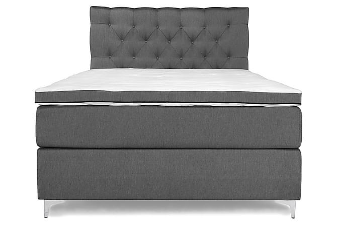 Sänkypaketti Relax Comfort Jenkkisänky 140x200 - Harmaa - Huonekalut - Sängyt - Sänkypaketti