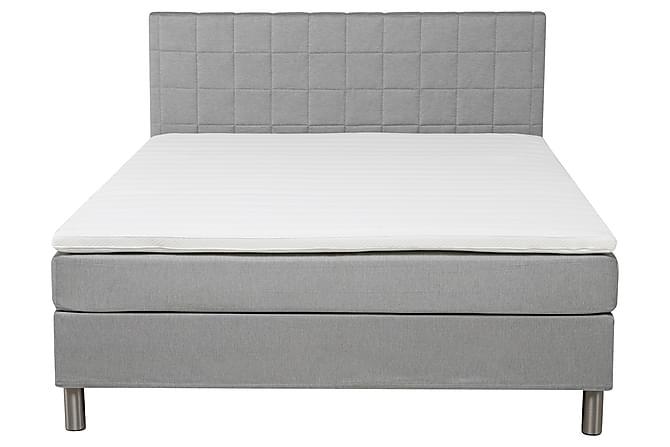 Sänkypaketti Solange 180 cm Vaaleanharmaa - Ruutu Sängynpääty - Huonekalut - Sängyt - Sänkypaketti