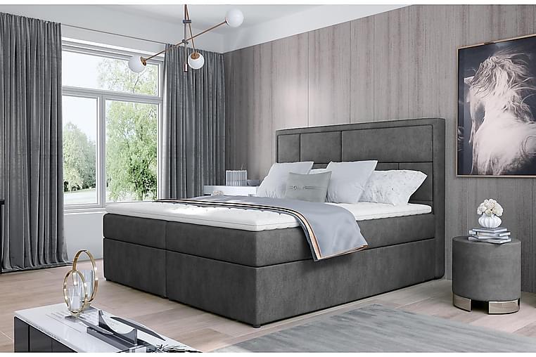 Sänkypaketti Varrains 160x200 cm - Harmaa - Huonekalut - Sängyt - Sänkypaketti