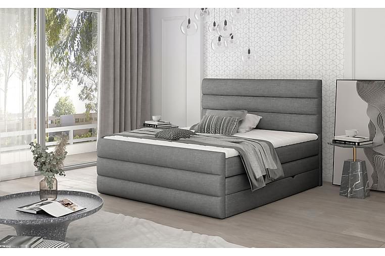 Sänkypaketti Veillais 140x200 cm - Harmaa - Huonekalut - Sängyt - Sänkypaketti