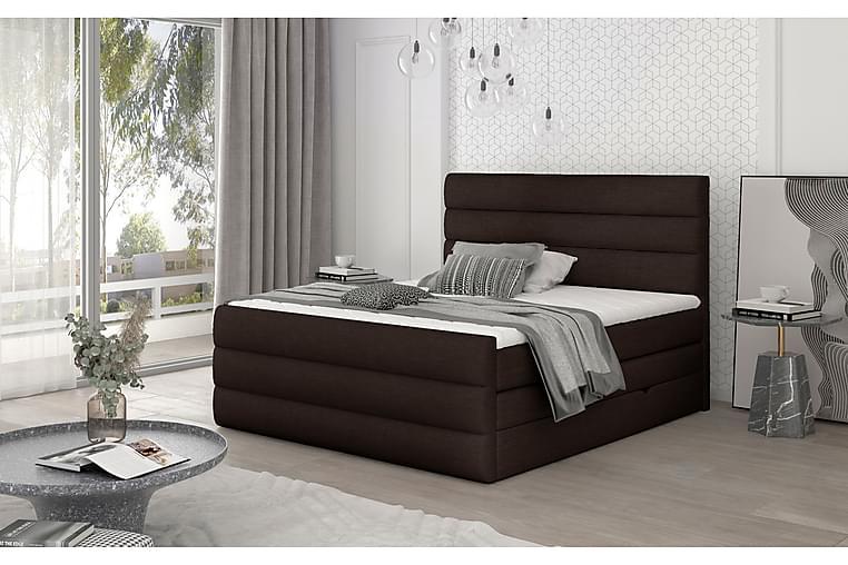 Sänkypaketti Veillais 140x200 cm - Ruskea - Huonekalut - Sängyt - Sänkypaketti