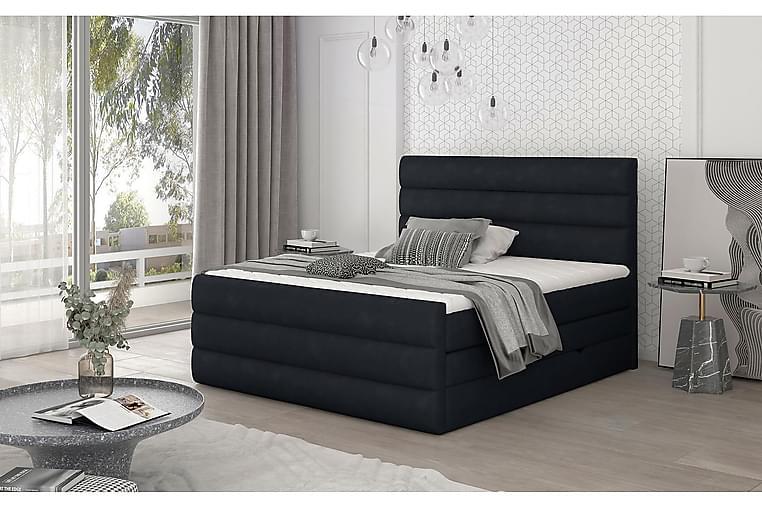 Sänkypaketti Veillais 160x200 cm - Musta - Huonekalut - Sängyt - Sänkypaketti