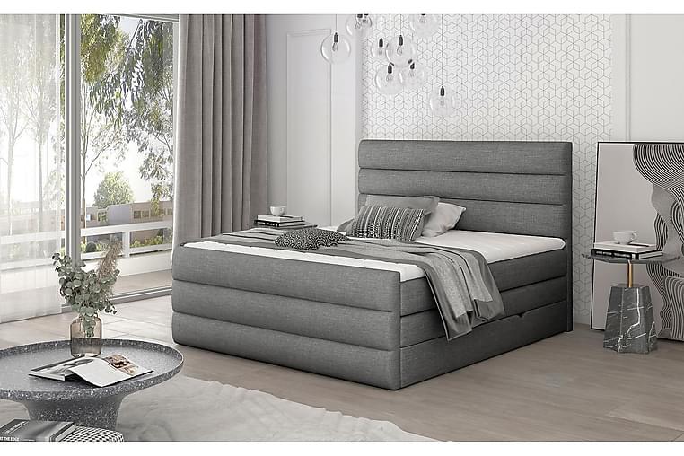 Sänkypaketti Veillais 180x200 cm - Harmaa - Huonekalut - Sängyt - Sänkypaketti