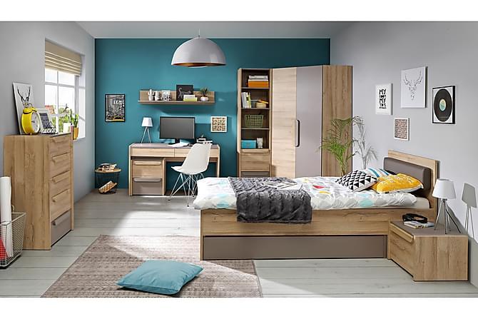 Sänky Withnoe 96 cm - Ruskea/Harmaa - Huonekalut - Sängyt