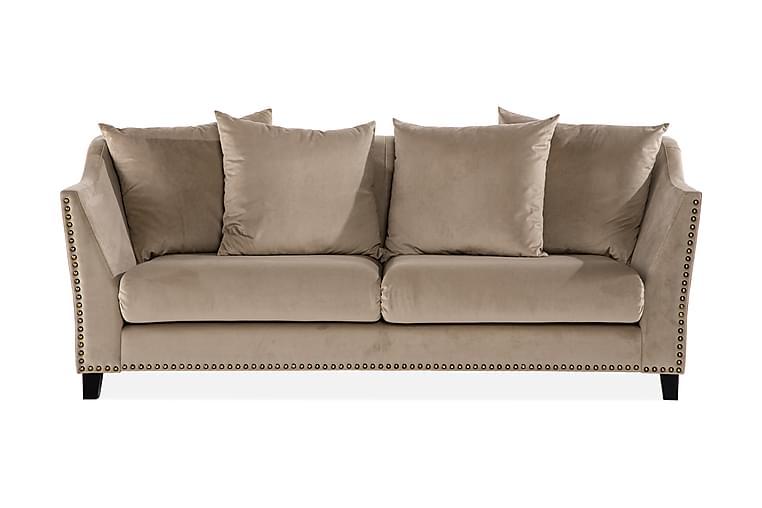 3:n ist Sohva Oliete niiteillä - Beige - Huonekalut - Sohvat - 2-4 hengen sohvat