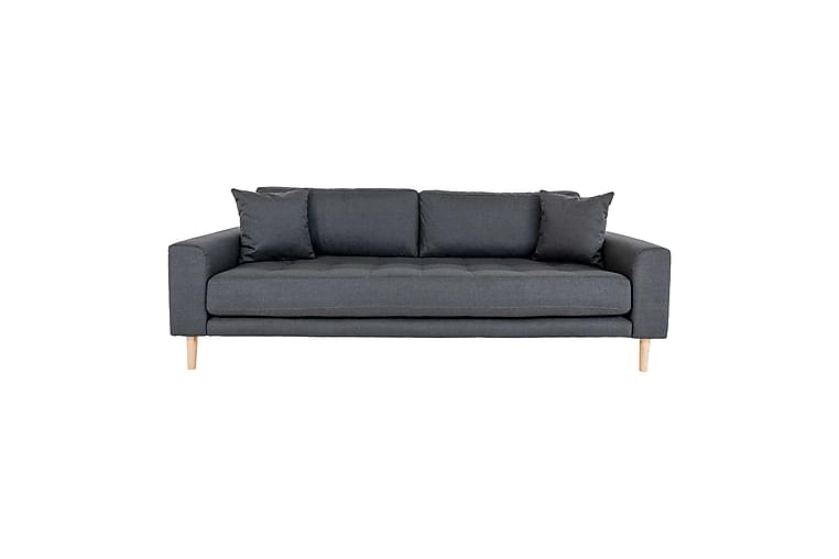 3:n ist sohva Turcata 3 tyynyllä - Tummanharmaa - Huonekalut - Sohvat - 2-4 hengen sohvat
