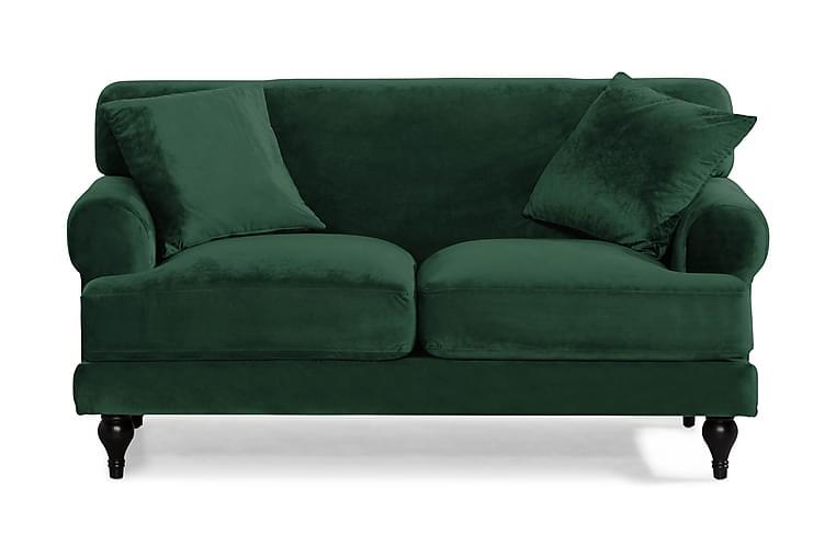 Samettisohva Webb 2:n ist - Tummanvihreä - Huonekalut - Sohvat - Howard-sohvat