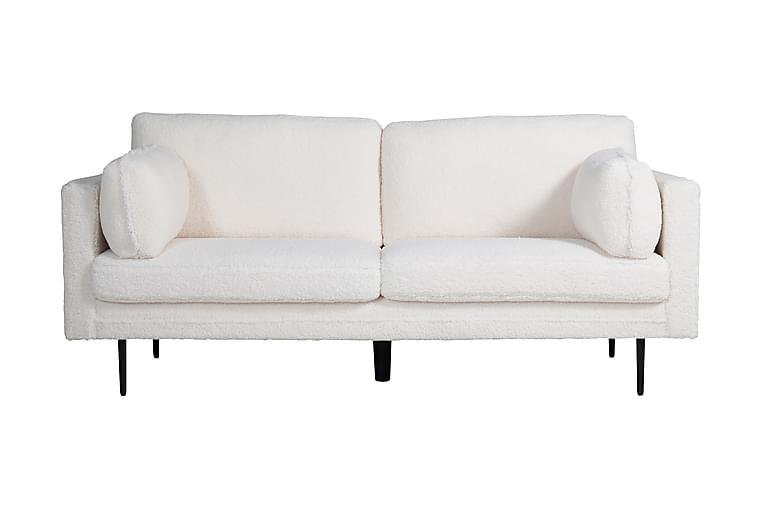 Sohva Arianos 3:n ist Teddy - Valkoinen - Huonekalut - Sohvat - 2-4 hengen sohvat