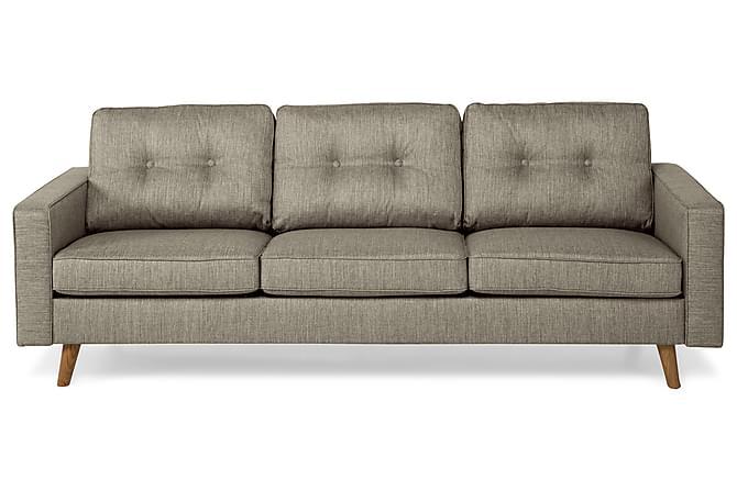 Sohva Miller 3:n ist - Harmaanruskea - Huonekalut - Sohvat - 2-4 hengen sohvat