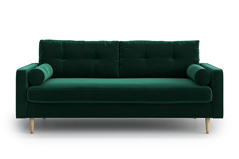 Sohva Stephanie 3:n ist - Vihreä - Huonekalut - Sohvat - 2-4 hengen sohvat