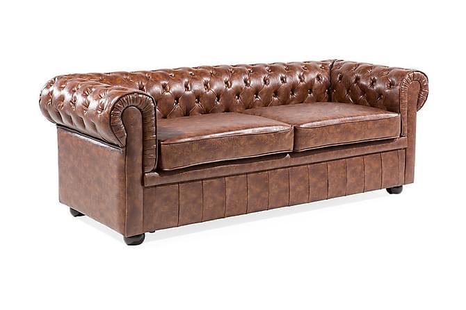 Sohva Chesterfield 2-4:n ist - Ruskea - Huonekalut - Sohvat - Chesterfield-sohvat