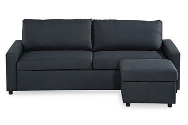 WENDELA 3:n ist sohva Divaanilla Käännettävä tummanharmalla