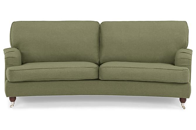Sohva Oxford Lyx 3:n ist Kaareva - Oliivinvihreä - Huonekalut - Sohvat - Howard-sohvat
