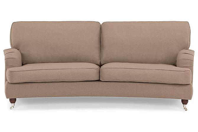 Sohva Oxford Lyx 3:n ist Kaareva - Ruskea - Huonekalut - Sohvat - Howard-sohvat