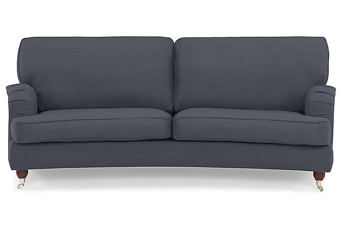 Sohva Oxford Lyx 3:n ist Kaareva - Sininen - Huonekalut - Sohvat - Howard-sohvat