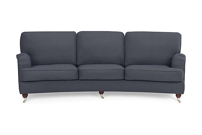 Sohva Oxford Lyx 4:n ist Kaareva - Sininen - Huonekalut - Sohvat - Howard-sohvat